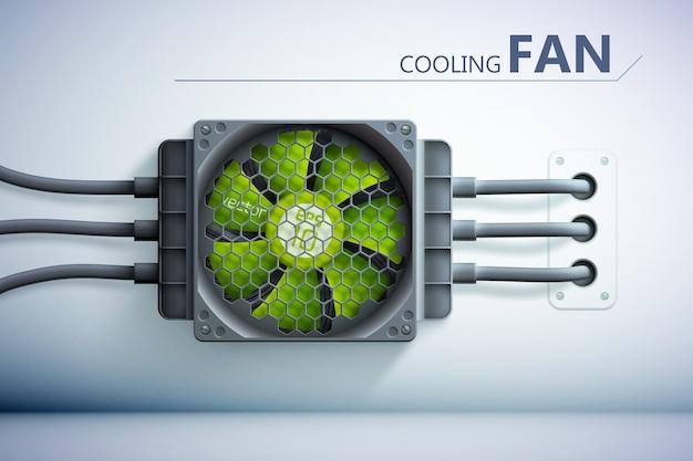 Fundo de tecnologia de refrigeração Vetor grátis