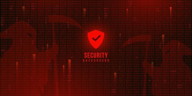 Fundo de tecnologia digital com código binário, segurança ciberespaço Vetor Premium