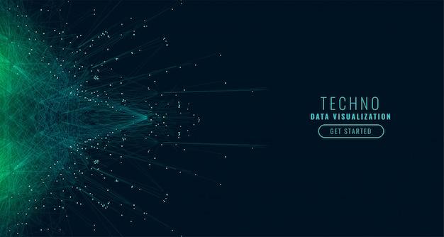Fundo de tecnologia digital de grande volume de dados de ciência Vetor grátis