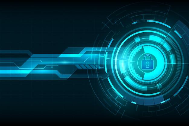 Fundo de tecnologia digital de segurança abstrata Vetor Premium