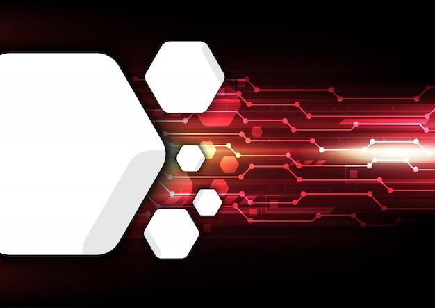 Fundo de tecnologia do futuro digital Vetor Premium