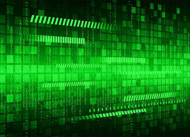 Fundo de tecnologia futura do circuito cibernético verde Vetor Premium