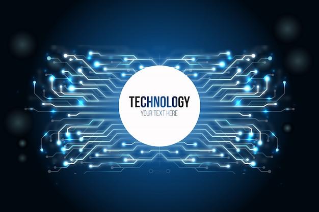Fundo de tecnologia moderna Vetor grátis
