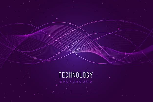 Fundo de tecnologia roxa Vetor grátis