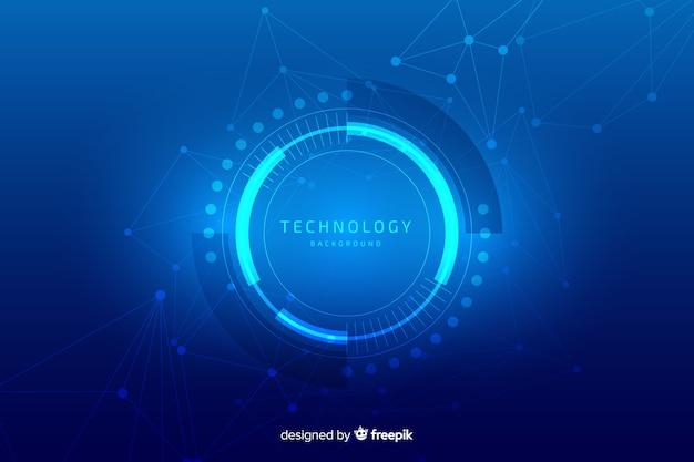 Fundo de tecnologia Vetor Premium