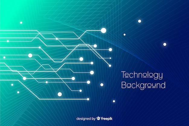 Fundo de tecnologia Vetor grátis