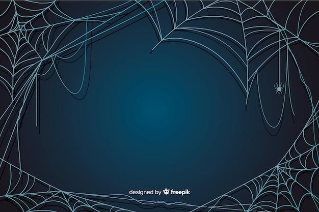 Fundo de teia de aranha de halloween Vetor grátis