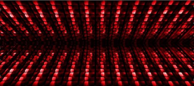 Fundo de tela de cinema de led vermelho azul Vetor Premium