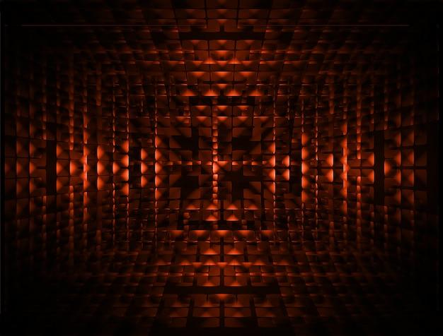 Fundo de tela de cinema led laranja Vetor Premium
