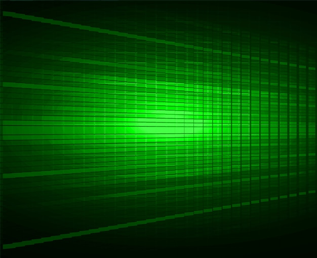 Fundo de tela de cinema led verde. light abstract technology Vetor Premium