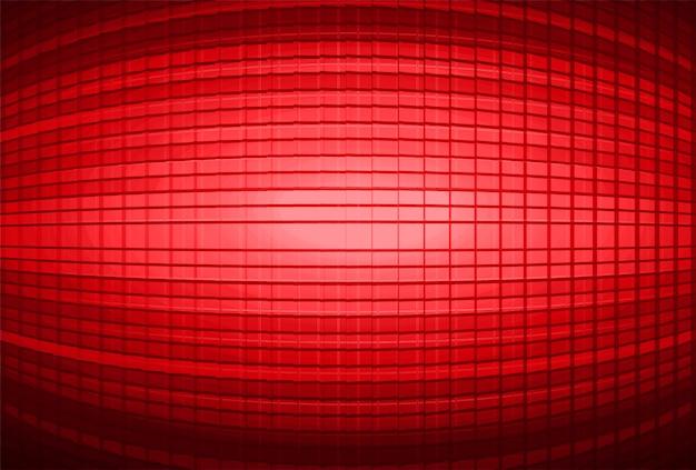 Fundo de tela de cinema vermelho led Vetor Premium