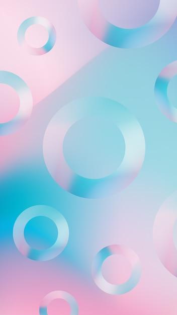 Fundo de telefone gradiente com formas circulares Vetor grátis
