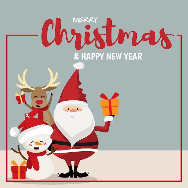 Fundo de temporada de férias de natal. Vetor Premium