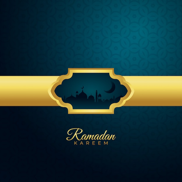 Fundo de temporada ramadan kareem Vetor Premium