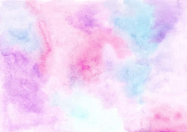 Fundo de textura aquarela pastel abstrata Vetor Premium