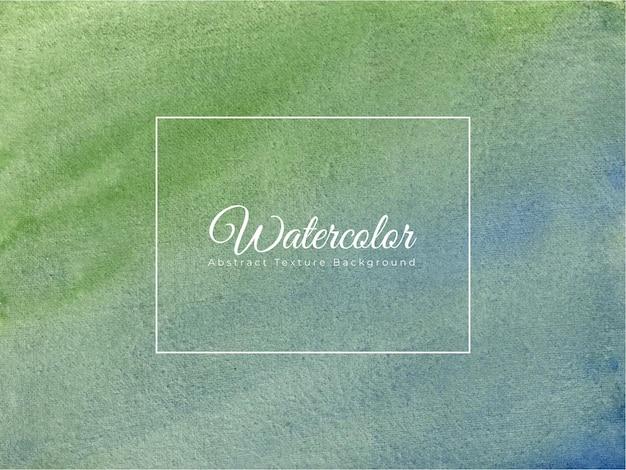 Fundo de textura aquarela pintada à mão na cor azul verde Vetor Premium