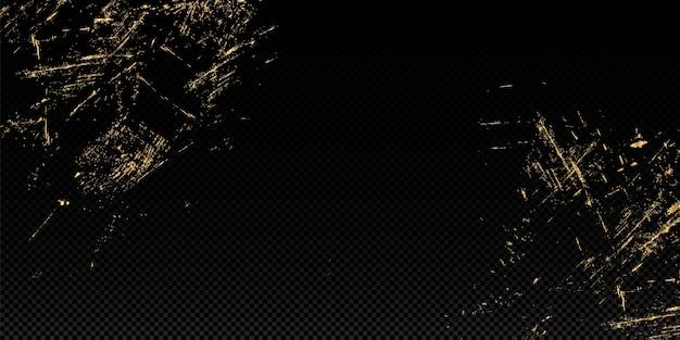 Fundo de textura de glitter de illustration.gold do vetor. elemento de design de pincelada. Vetor Premium