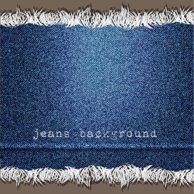 Fundo de textura de jeans Vetor Premium