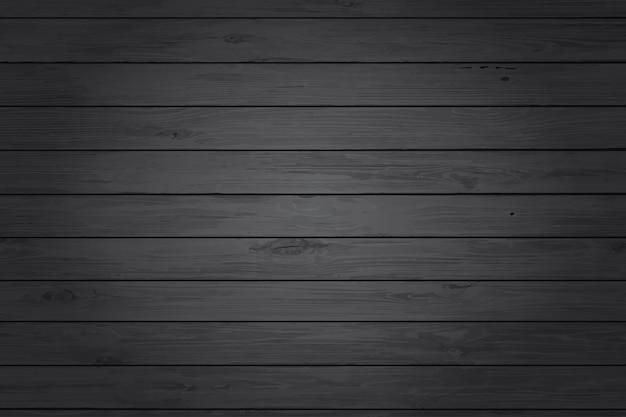 Fundo de textura de madeira preta Vetor Premium