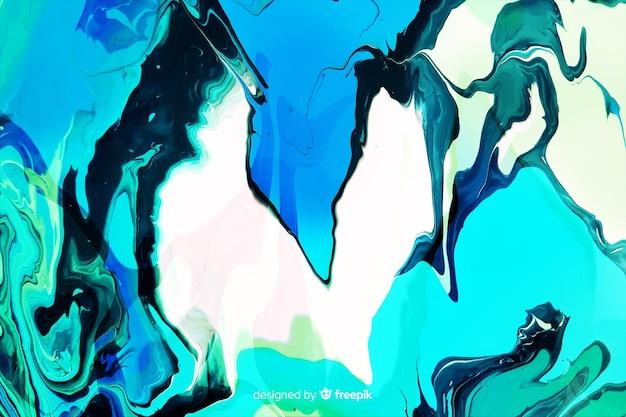 Fundo de textura de mármore de tinta azul Vetor grátis