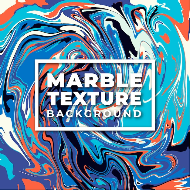 Fundo de textura de mármore elegante laranja e azul Vetor Premium