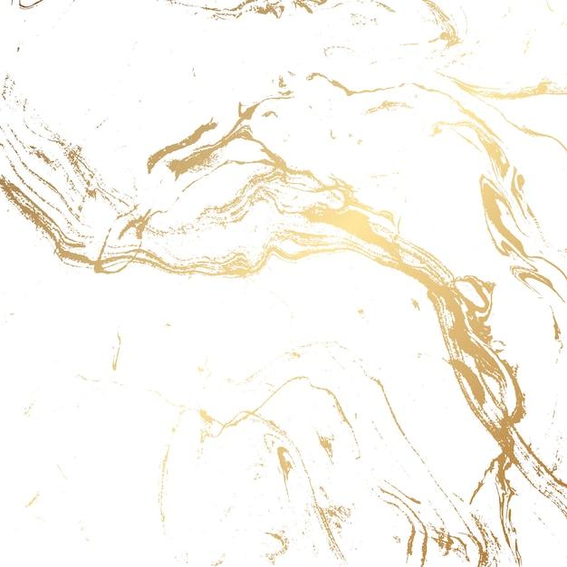 Fundo de textura de mármore em ouro e branco Vetor grátis