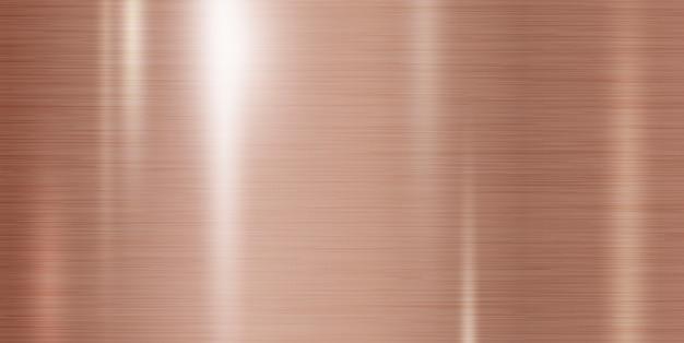 Fundo de textura de metal cobre Vetor Premium