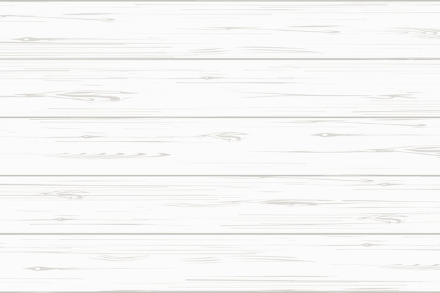 Fundo de textura de prancha de madeira branca. Vetor Premium