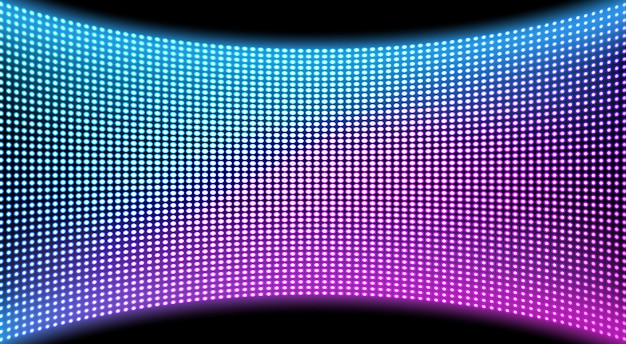 Fundo de textura de tela de parede de vídeo led, display Vetor grátis