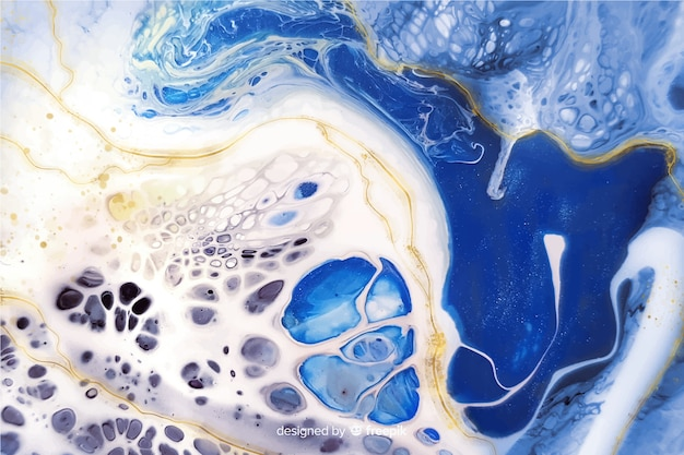 Fundo de textura de tinta de mármore Vetor grátis
