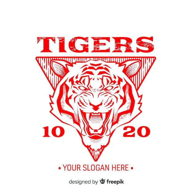 Fundo de tigre de lema Vetor grátis