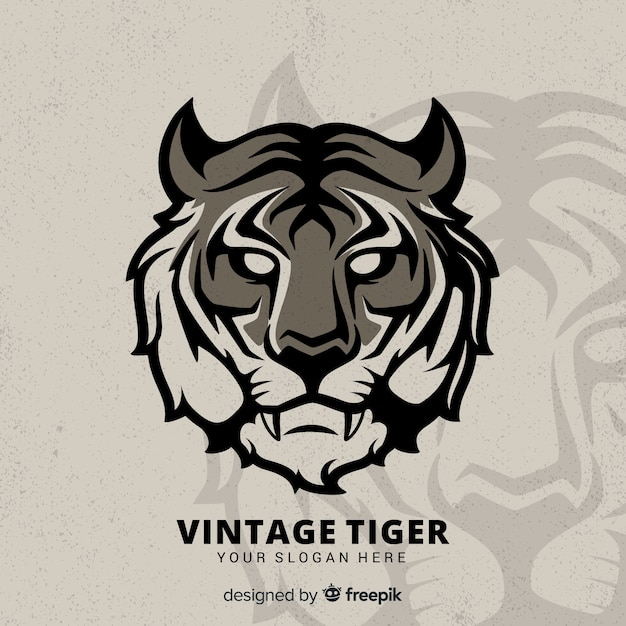 Fundo de tigre vintage Vetor grátis