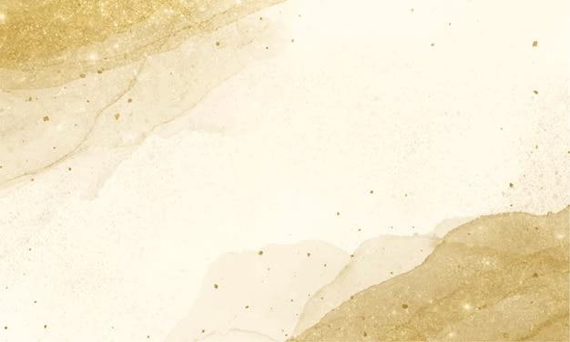 Fundo de tinta de álcool dourado. pintura de arte abstrata fluida. Vetor grátis