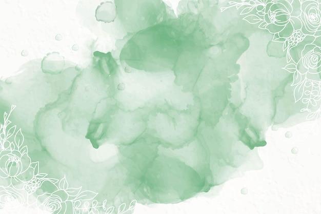 Fundo de tinta de álcool verde Vetor grátis