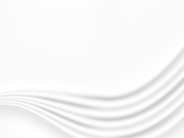 Fundo de tom branco e cinza de onda abstrata Vetor Premium