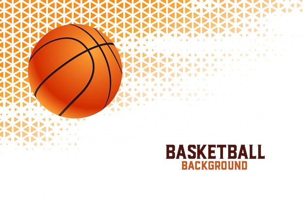 Fundo de torneio de campeonato de basquete com padrões de triângulo Vetor grátis