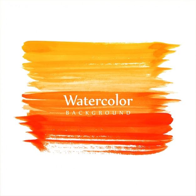Fundo de traços coloridos aquarela bonita Vetor Premium