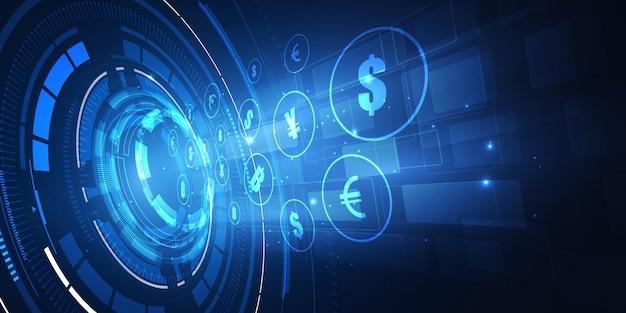 Fundo de transferência de dinheiro Vetor Premium