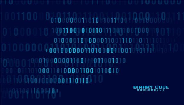 Fundo de transferência digital de dados de código binário de tecnologia Vetor grátis