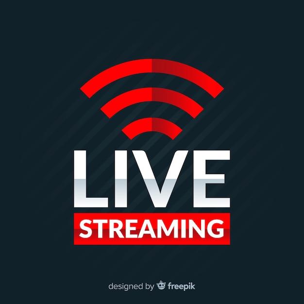 Fundo de transmissão ao vivo Vetor grátis