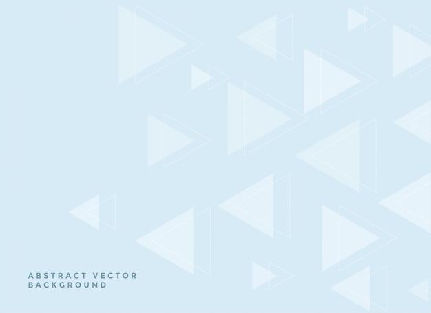 Fundo de triângulos sutis em suaves cores azuis Vetor grátis