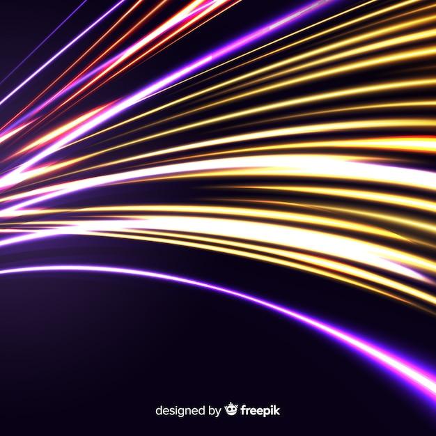 Fundo de trilha de luz de velocidade Vetor grátis