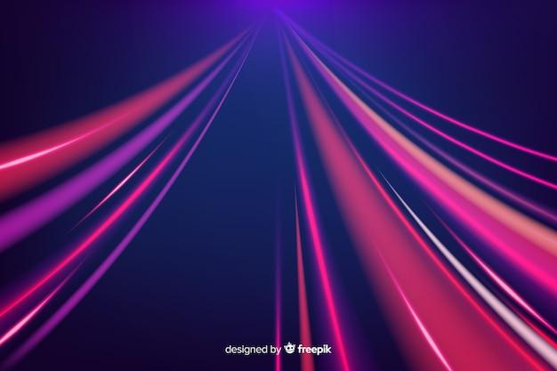 Fundo de trilha de luz Vetor grátis