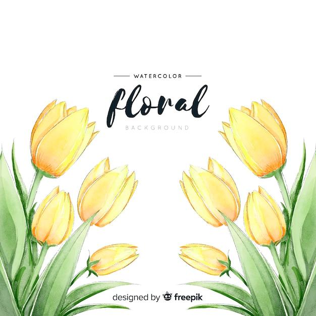 Fundo de tulipas da primavera Vetor grátis