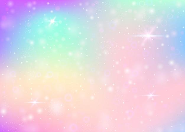 Fundo de unicórnio com malha de arco-íris. Vetor Premium