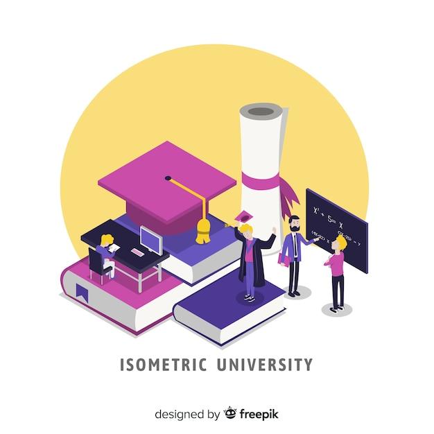 Fundo de universidade isométrica Vetor grátis
