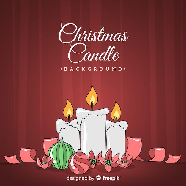 Fundo de velas de natal Vetor grátis