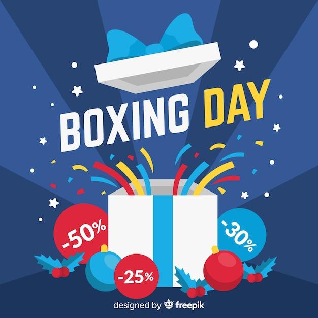 Fundo de venda de boxe plana dia Vetor grátis