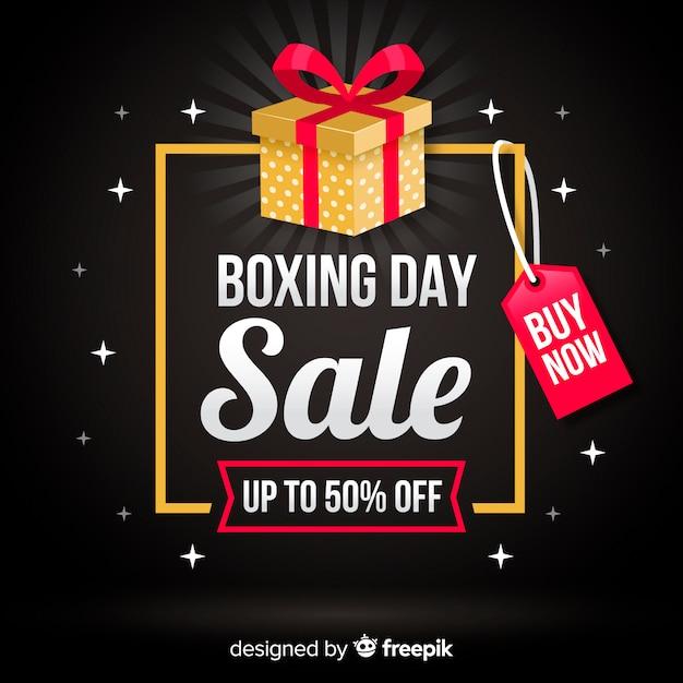 Fundo de venda de dia de boxe Vetor grátis