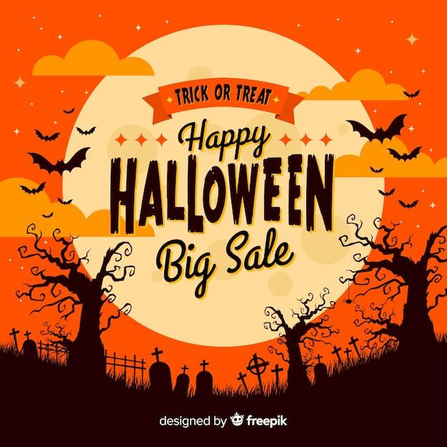 Fundo de venda de halloween Vetor grátis